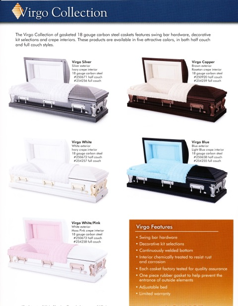 Virgo Casket Collection